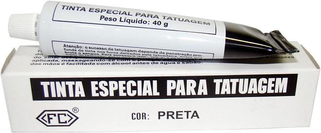 TINTA TATUADEIRA PRETA BISNAGA 40G REF 025.905 FC