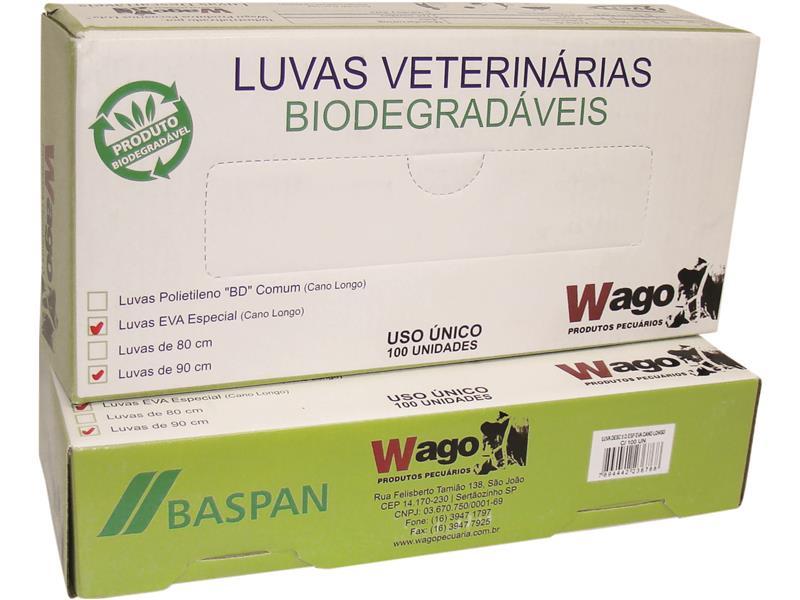 LUVA DESC 5 D ESP C/100 BP EVA CANO LONGO