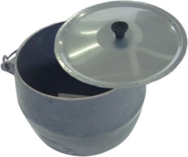 CALDEIRAO 02 C/ARCO TAMP ALUM 4,5 L (18x14,5cm)